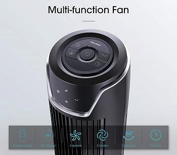 Ventilateur de tour Pelonis oscillant avec affichage LED Avis